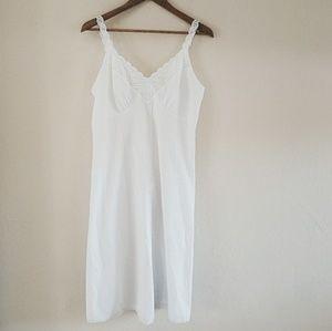 Silky Oceanic Vintage Nightgown or Slip